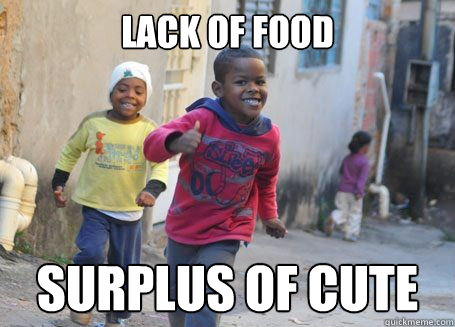 Lack of food Surplus of Cute