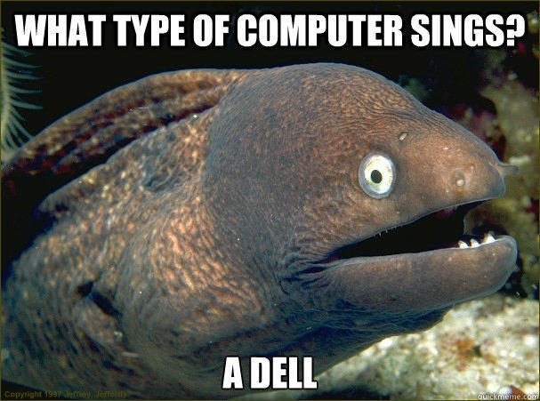 What type of computer sings? A dell - What type of computer sings? A dell  Bad Joke Eel