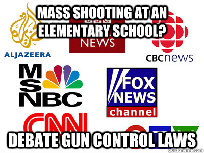 Mass shooting at an elementary school? Debate gun control laws