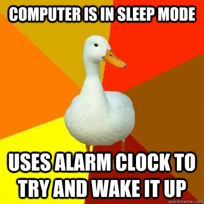 Alarm clock mac that works in sleep mode