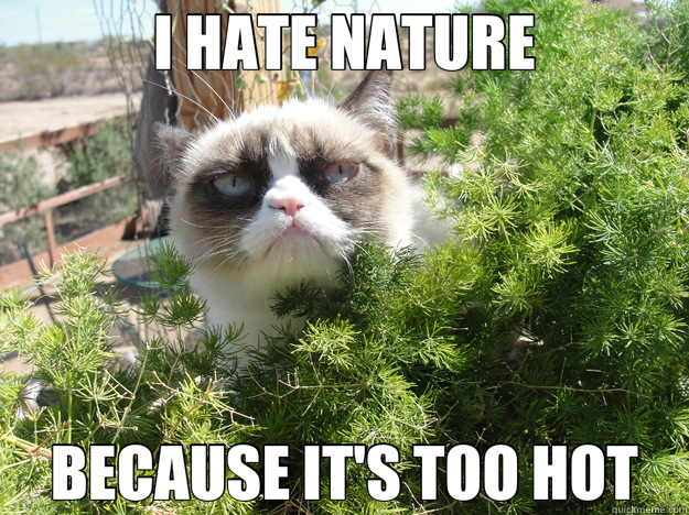 I HATE NATURE BECAUSE IT'S TOO HOT