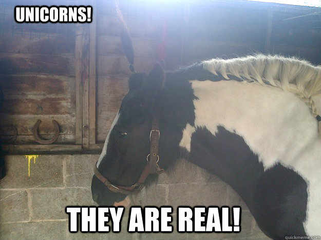 unicorns! they are real!