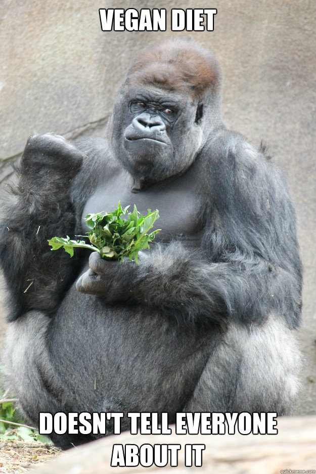 vegan diet doesn't tell everyone about it  Success Gorilla