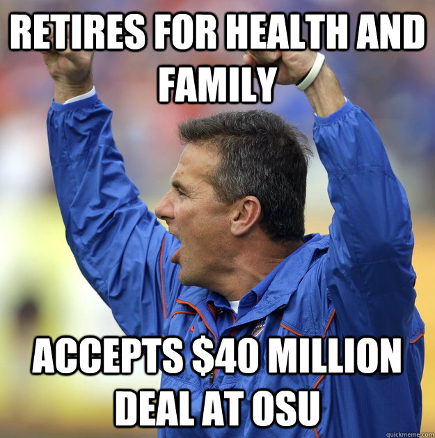 Retires for Health and family Accepts $40 million deal at OSU