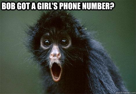 Bob got a girl's phone number?