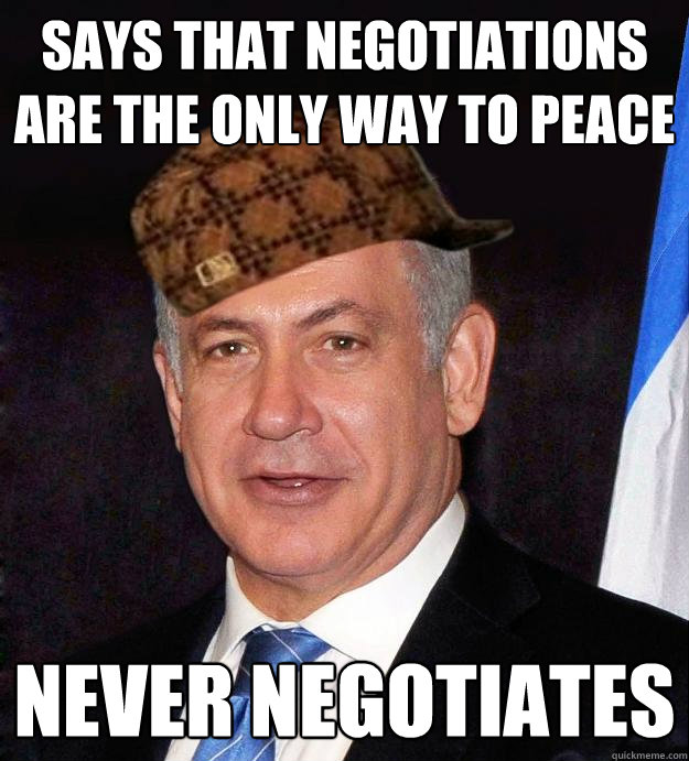says that negotiations are the only way to peace never negotiates