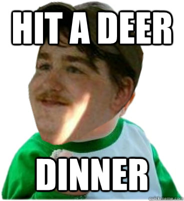 hit a deer dinner