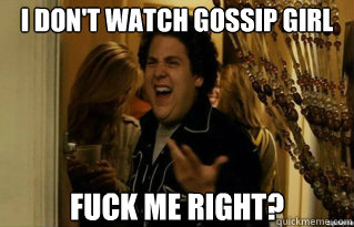 entertainment memes watching gossip girl