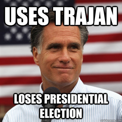 uses trajan loses presidential election - uses trajan loses presidential election  Romneys Trajan