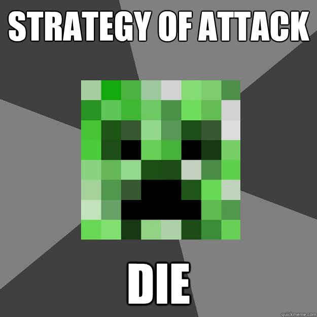 Strategy of attack DIE  Creeper