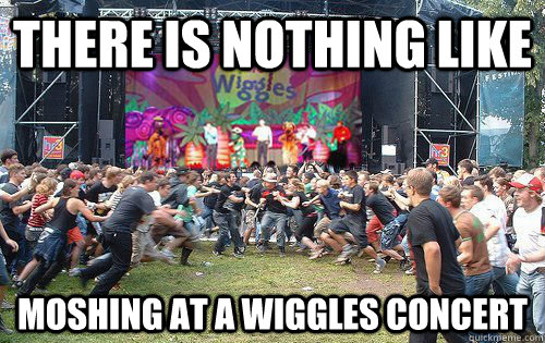there is nothing like moshing at a wiggles concert  wiggles concert