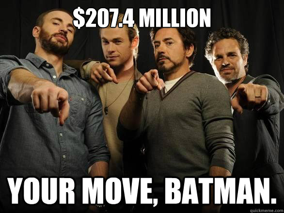 $207.4 Million Your move, Batman.