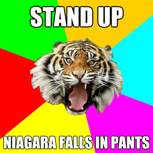 stand up niagara falls in pants  Time of the Month Tiger