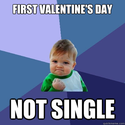 First valentine's day not single  Success Kid
