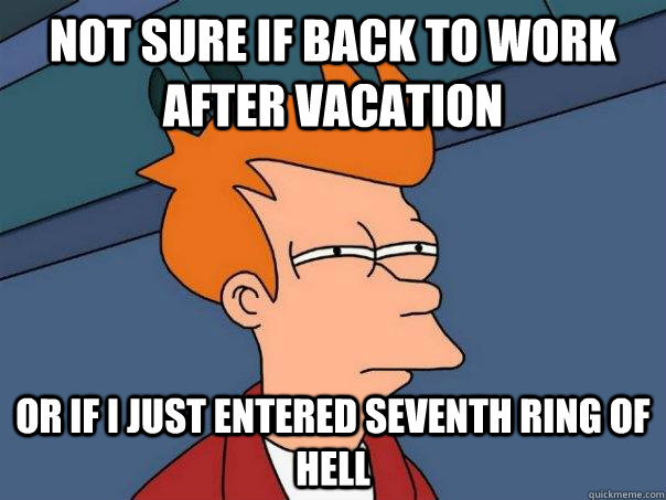 Back To Work After VacationBack To Work After Vacation