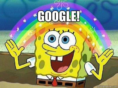 Google!   rainbow spongebob