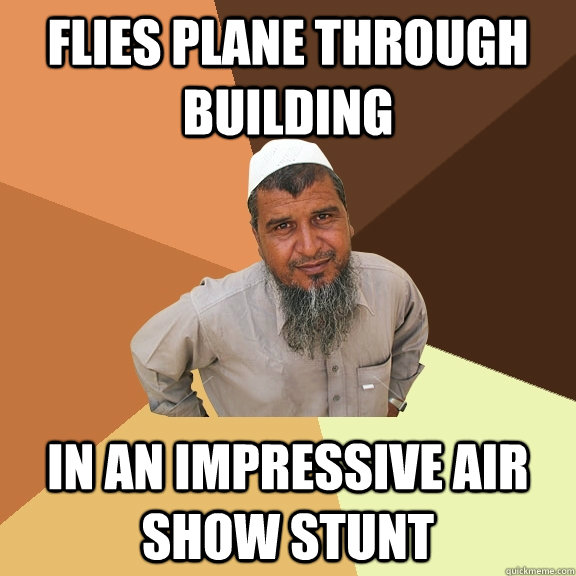 flies plane through building in an impressive air show stunt - flies plane through building in an impressive air show stunt  Ordinary Muslim Man