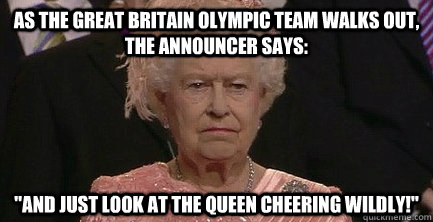 As The Great Britain Olympic Team walks out, the announcer says: