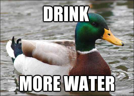 Drink More Water - Drink More Water  Actual Advice Mallard