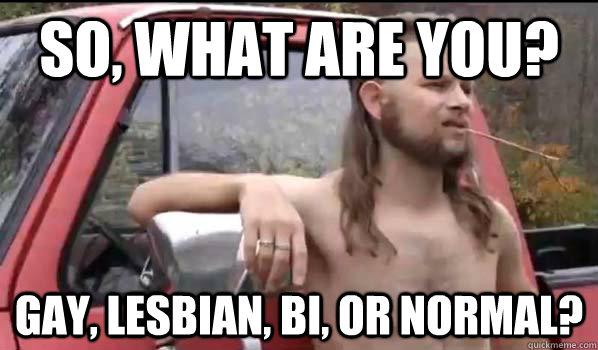 You lesbian