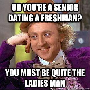 High school senior dating freshman-in-Dobson