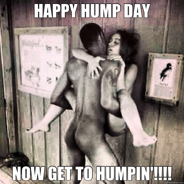 HAPPY HUMP DAY NOW GET TO HUMPIN'!!!!  hump day