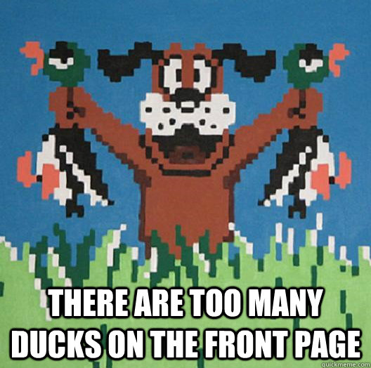 There are too many ducks on the front page  Duck Hunt