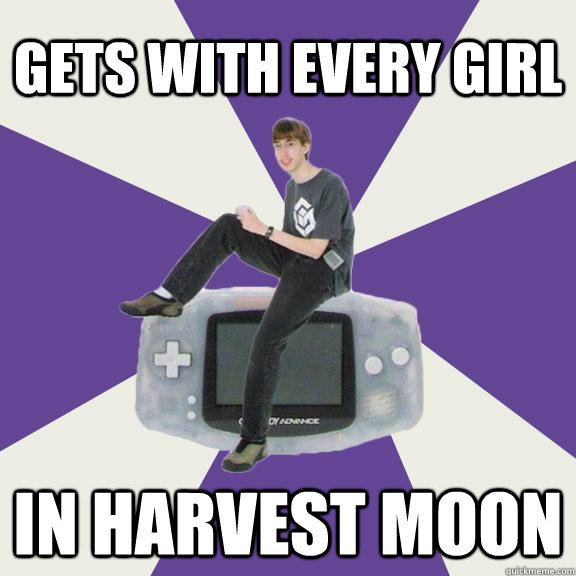 Gets with every girl in harvest moon - Gets with every girl in harvest moon  Nintendo Norm