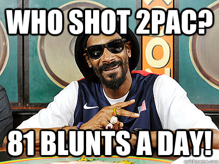 Who shot 2Pac? 81 blunts a Day! - Who shot 2Pac? 81 blunts a Day!  Snoop Lion