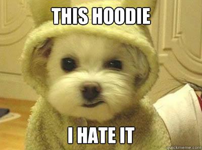 This hoodie I hate it  Grumpy Dog