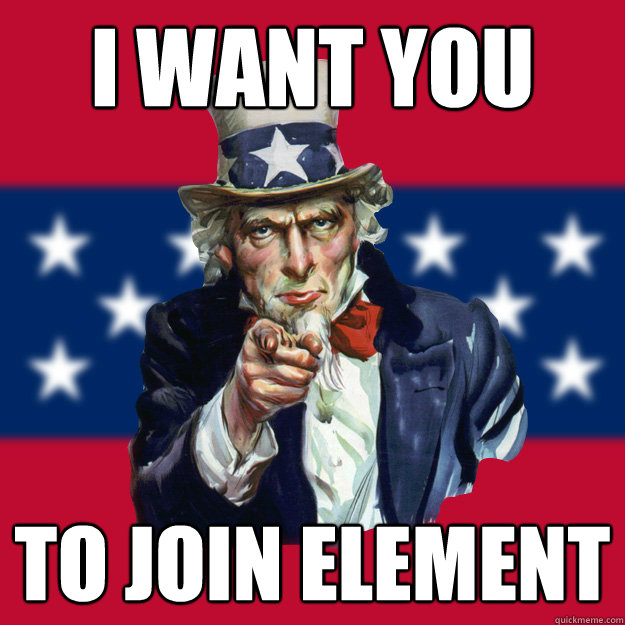 i want you to join element  Uncle Sam