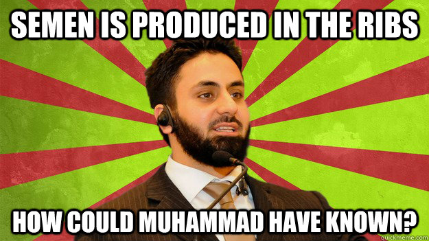 semen is produced in the ribs How Could Muhammad Have Known?