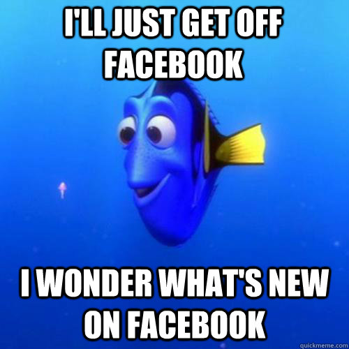 I'll just get off facebook I wonder what's new on facebook - I'll just get off facebook I wonder what's new on facebook  dory