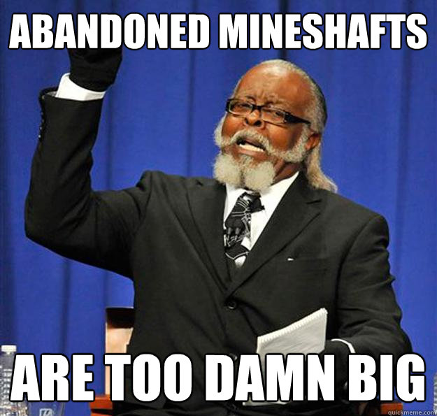 Abandoned mineshafts Are too damn big  Jimmy McMillan