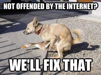 Not offended by the internet? we'll fix that