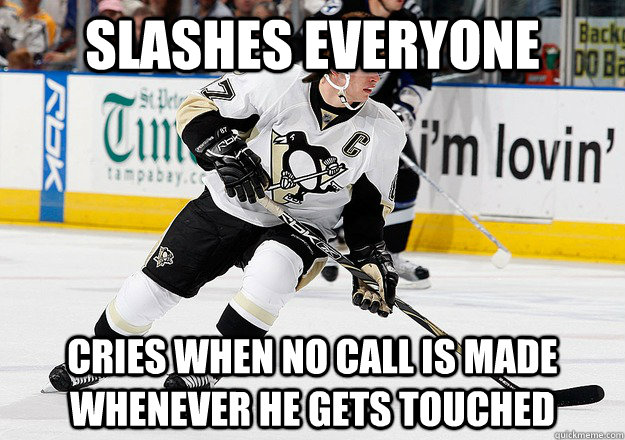 Slashes everyone Cries when no call is made whenever he gets touched