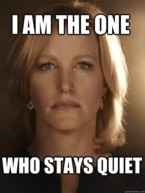 I AM THE ONE WHO STAYS QUIET - I AM THE ONE WHO STAYS QUIET  Skyler White