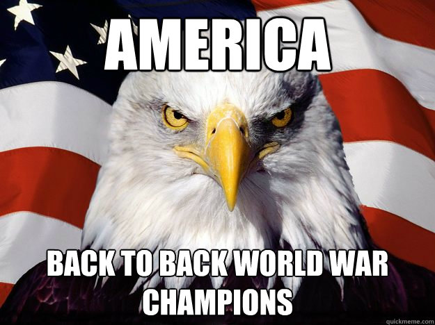 AMERICA Back to back world war champions - AMERICA Back to back world war champions  America!