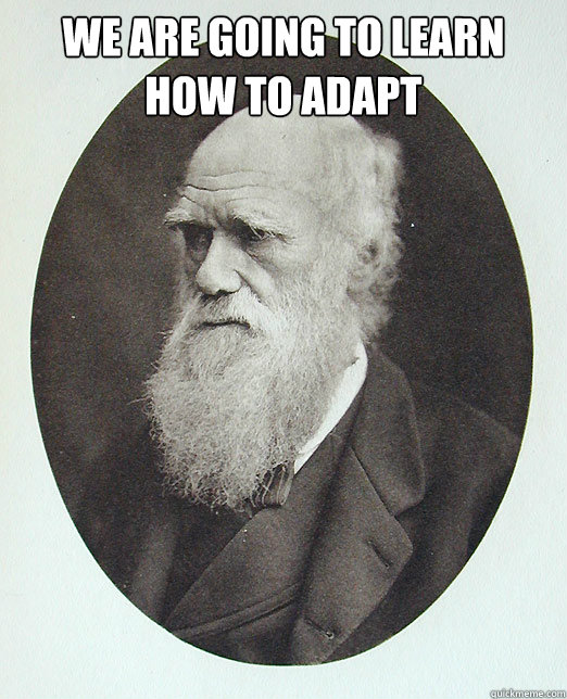 We are going to learn how to adapt