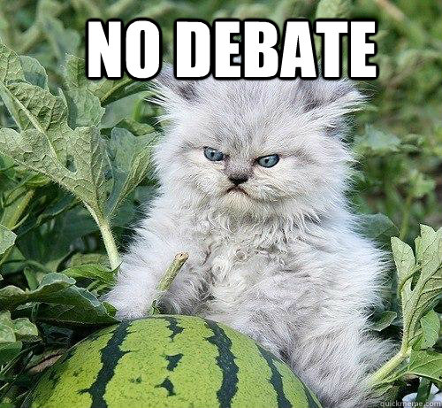 NO DEBATE   German Kitty