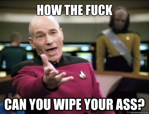 How the fuck can you wipe your ass? - How the fuck can you wipe your ass?  Annoyed Picard HD