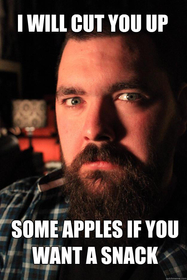 I will cut you up some apples if you want a snack - I will cut you up some apples if you want a snack  Dating Site Murderer