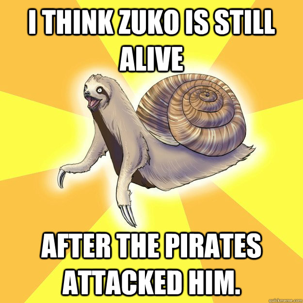 i think zuko is still alive after the pirates attacked him ...