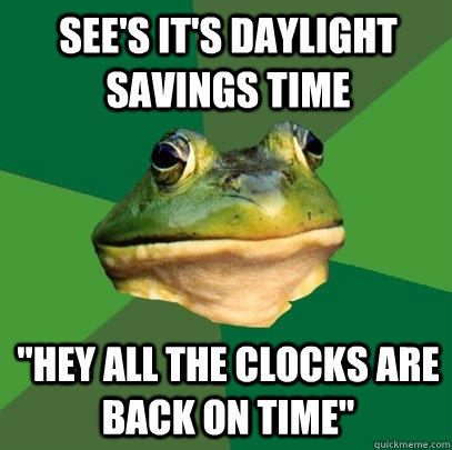 See's it's daylight savings time
