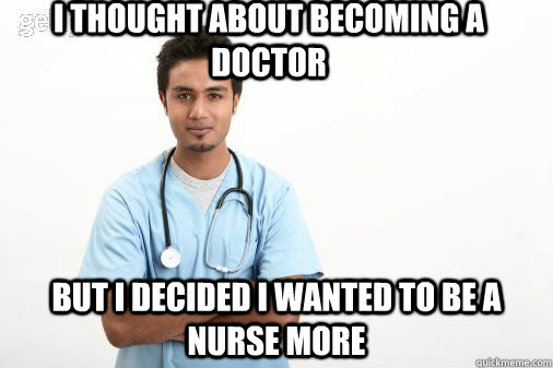 How does one become a nurse or doctor?
