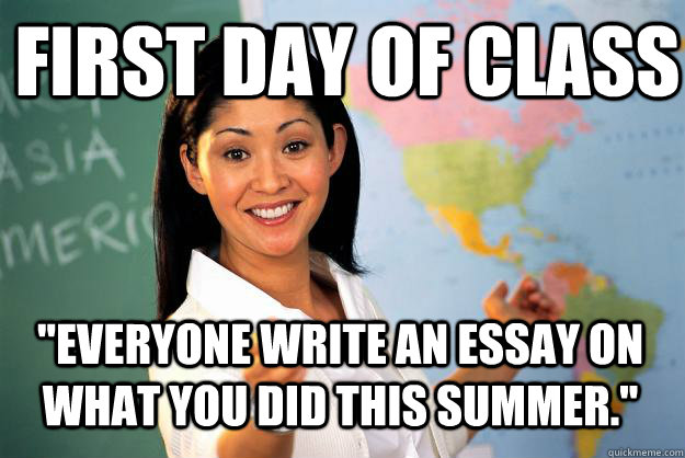 Essay About First Day Of School