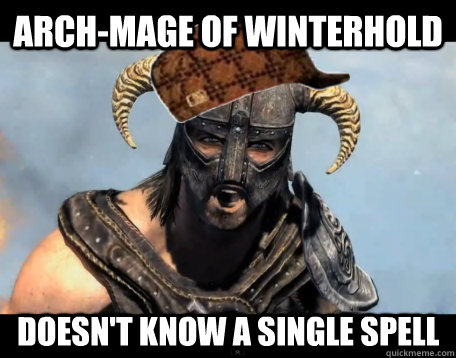 arch-Mage of winterhold doesn't know a single spell
