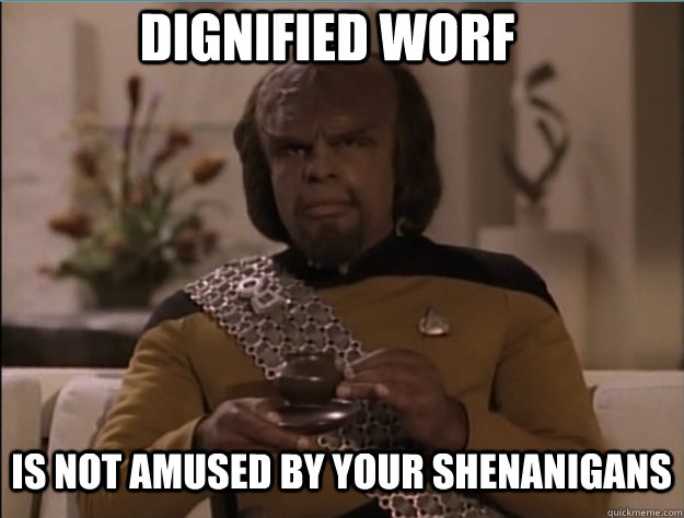Dignified Worf Is not amused by your shenanigans - Dignified Worf Is not amused by your shenanigans  Dignified Worf