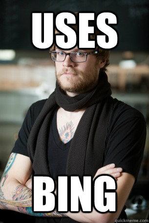 uses bing - uses bing  Hipster Barista
