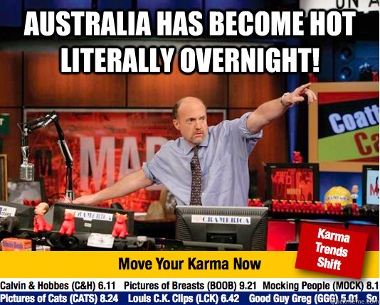 Australia has become hot literally overnight!  - Australia has become hot literally overnight!   Mad Karma with Jim Cramer